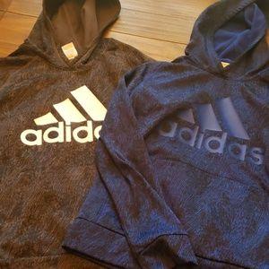 2 Boys M 10/12 Adidas hoodies